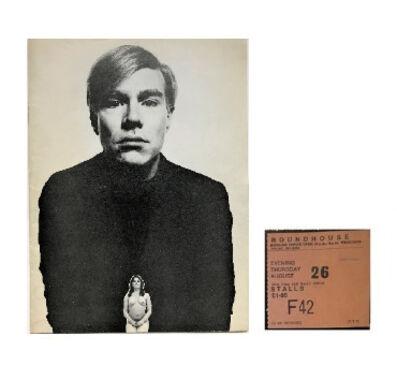 Andy Warhol, ''PORK' (London Play), 1971, Original PROGRAM & TICKET, The Round House London.', 1971