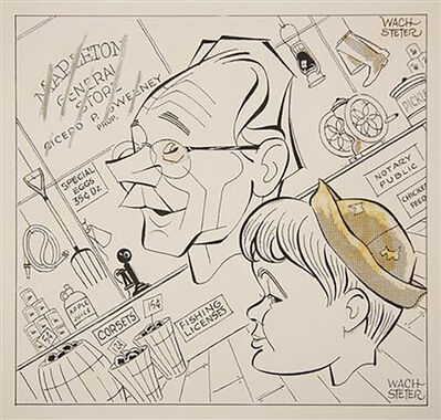 """George Wachsteter, 'Caricature for """"The World of Mr. Sweeney"""" Promo', 1955"""