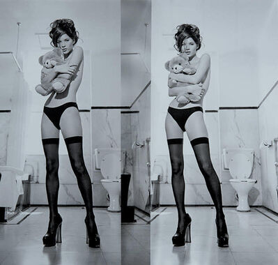 Russell Young, 'Kate Moss Diptych, Ghost Grey', 2020