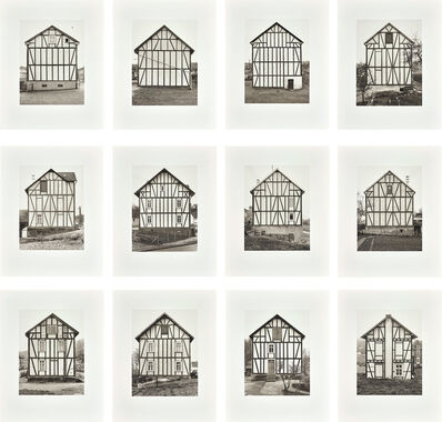 Bernd and Hilla Becher, 'Fachwerkhäuser, Siegener Industriegebiet (Framework Houses, Industrial District of Siegen) 1959–1973', 1993