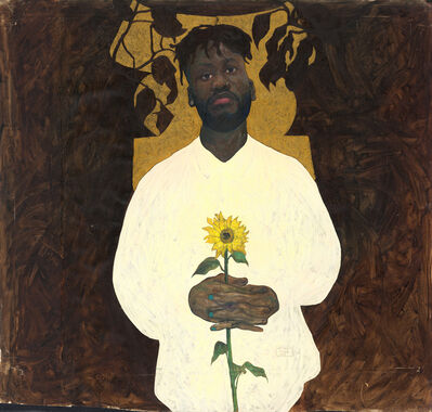 Amoako Boafo, 'Golden Stool (Self-Portrait)', 2017