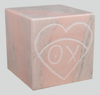 André Saraiva, 'Mr. A Pink Marble Cube 35 cm 1', 2018