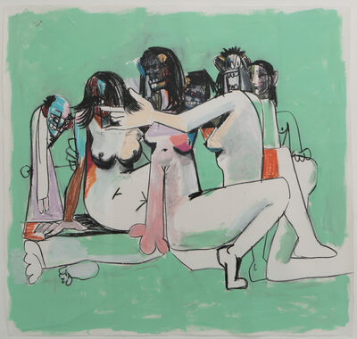 George Condo, 'Green Orgy Composition', 2005