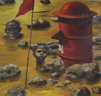Bikash Bhattacharjee, 'Flood Dear Flood', 1982