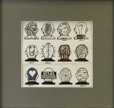 Dan Perjovschi, 'The Head of Shimamoto,', 1988