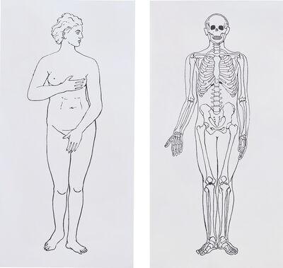 Katharina Fritsch, 'Serie Mensch, Frau und Skelett', 1997