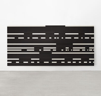 Paul Mogensen, '	Dot Dash Painting on Black', 1977