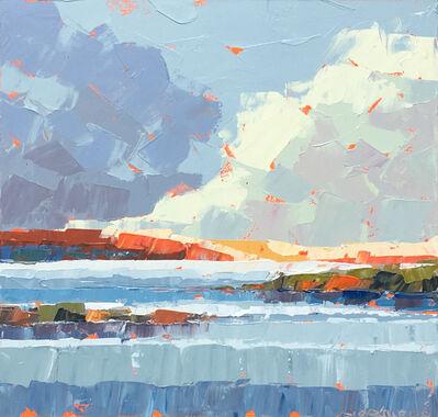 "Paul Norwood, '""Copper Hillside"" Painterly Impasto Landscape in Browns Golds Blues Neutrals', 2010-2018"