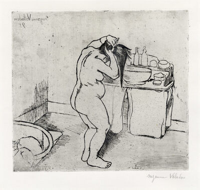 Suzanne Valadon, 'Catherine nue se coiffant', 1895