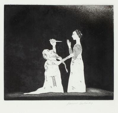 David Hockney, 'Old Rinkrank Threatens the Prince', 1969