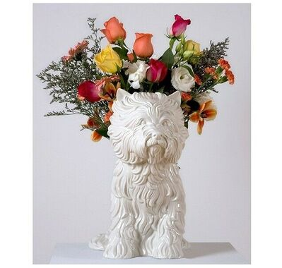 "Jeff Koons, '""Puppy (vase)"", White Glazed Porcelain, Signed/Numbered Edition of XX/3000.', 1998"