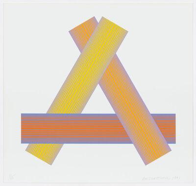 Richard Anuszkiewicz, 'Triangular Yellows', 1991