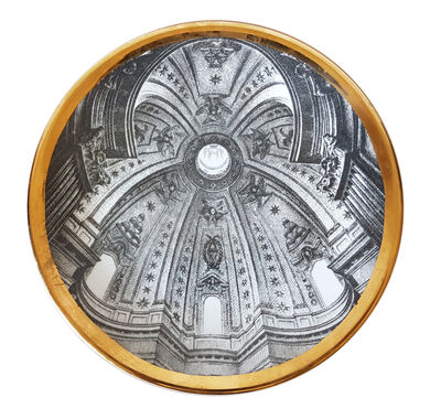 "Piero Fornasetti, 'Piero Fornasetti plate from the series of church domes ""Cupole d'Italia""', ca. 1960"