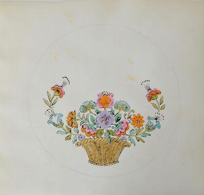 Andy Warhol, 'Untitled (Flower Basket)', ca. 1956