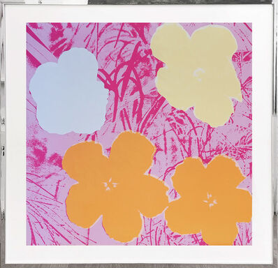 Sunday B. Morning, 'Flowers - orange, yellow, light blue, rosa', 1970