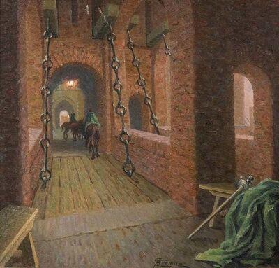 Giovanni Battista Crema, 'Drawbridge over the Estense Castl', 1920s
