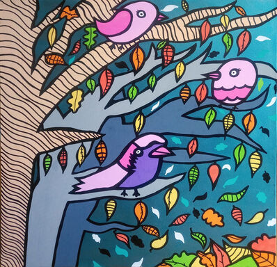 Kev Munday, 'Three Little Birds', 2018