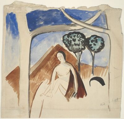 André Derain, 'Woman and Mountain', ca. 1907-08