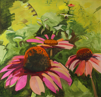 Lois Dodd, 'Cone Flowers', 1995