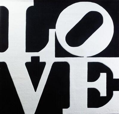 Robert Indiana, 'Chosen love - White on black', 1995