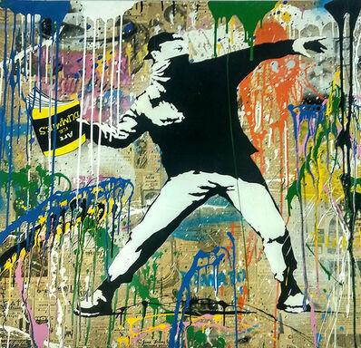 Mr. Brainwash, 'Banksy Thrower', 2018