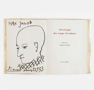 Pablo Picasso, '[Book] Max Jacob, Chronique des Temps heroiques', 1956