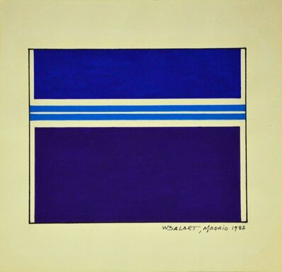 Waldo Balart, 'Dos líneas cyan', 1982
