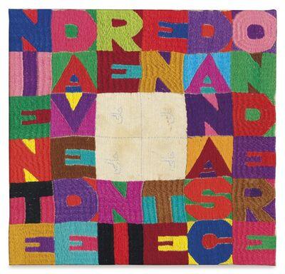 Alighiero Boetti, 'Niente da Vedere Niente da Nascondere', 1988
