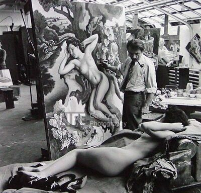"Alfred Eisenstaedt, 'Thomas Hart Benton Paints ""The Rape of Persephone""', 1938"