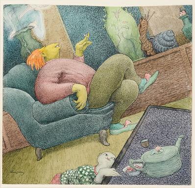 Walter Schnackenberg, 'A Comfortable Smoke', 1955