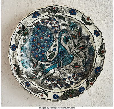 Jean-Jacques Lachenal, 'Peacock Platter', circa 1925