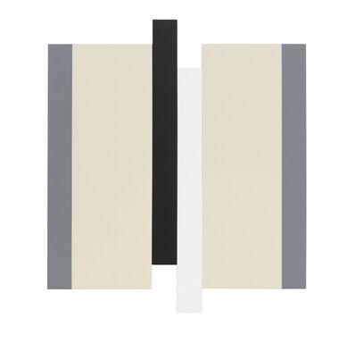 Scot Heywood, 'Untitled - Gray, Canvas, Black, White', 2019