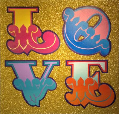 Ben Eine, 'Love (circus font)'