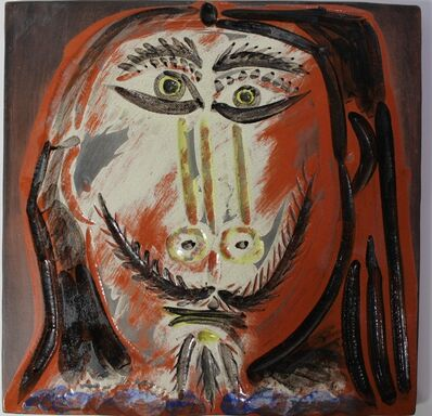 Pablo Picasso, 'Man's Head with Long Hair ', 1968