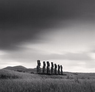 Michael Kenna, 'Moai, Study 49, Ahu Akivi, Easter Island', 2001