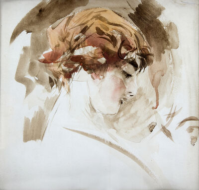 Giovanni Boldini, 'Blond head (young girl profile)', 1910-1920