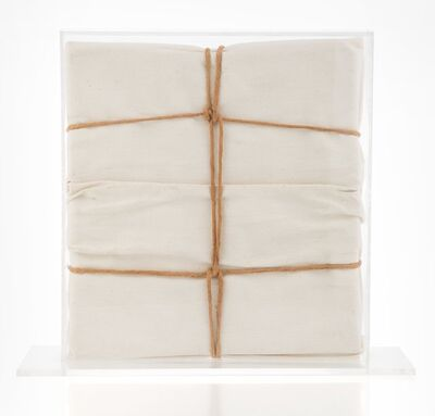 Christo, 'Wrapped Book', 1973