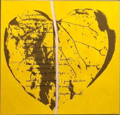 Corita Kent, '1968 Sister Corita Pop Art Silkscreen Lithograph Heart Torn Paper Collage', 1960-1969