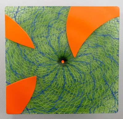 Joshua Bernbaum, 'Extroverre Green with Carved Orange Face', 2015