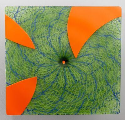 Joshua Bernbaum, 'Extroverre Green with Carved Orange Face', 2015