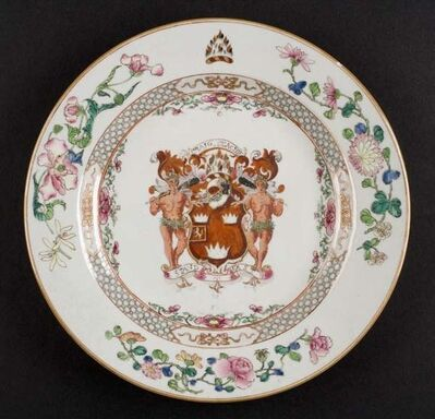 Unknown Artist, 'Grant Family Armorial Plate', Yongzheng Period-ca. 1730