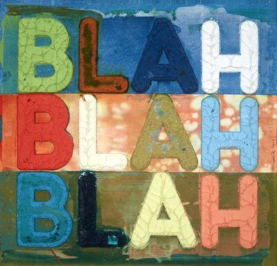 Mel Bochner, 'Blah, Blah, Blah', 2017
