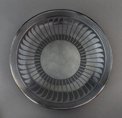 Maria Martinez and Popovi Da, 'Black-on-Black Plate with Feather Design', 1960