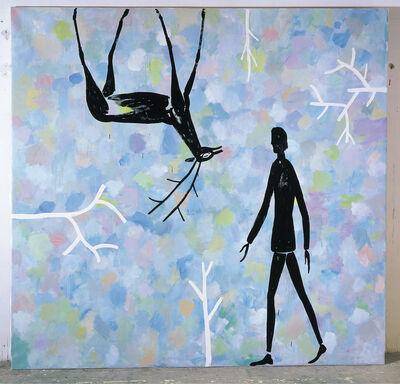 Roberto Barni, 'Grande paesaggio con animali e alberi', 2003