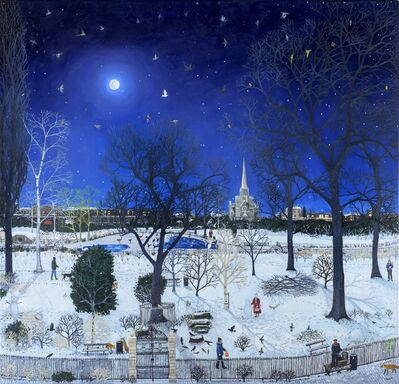Emma Haworth, 'Moonlit Park Snow', 2016
