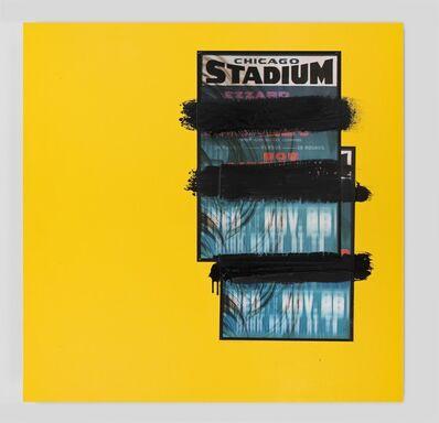 Gary Simmons, 'Chicago Stadium Yellow', 2014
