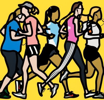 Julian Opie, 'Running Women', 2016