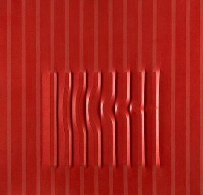 Agostino Bonalumi, 'Rosso', 1976