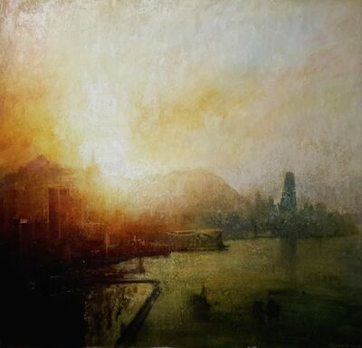Benjamin Warner, 'Sunset Hong Kong Harbour', 2016
