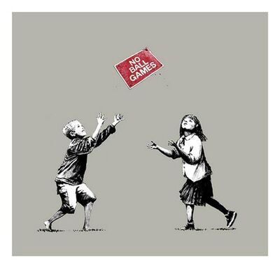 Banksy, 'No Ball Games (Grey) - Signed', 2009